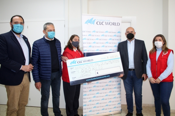 Fundación CLC World donates more than 4,000 kilos of food to the neediest families in Mijas