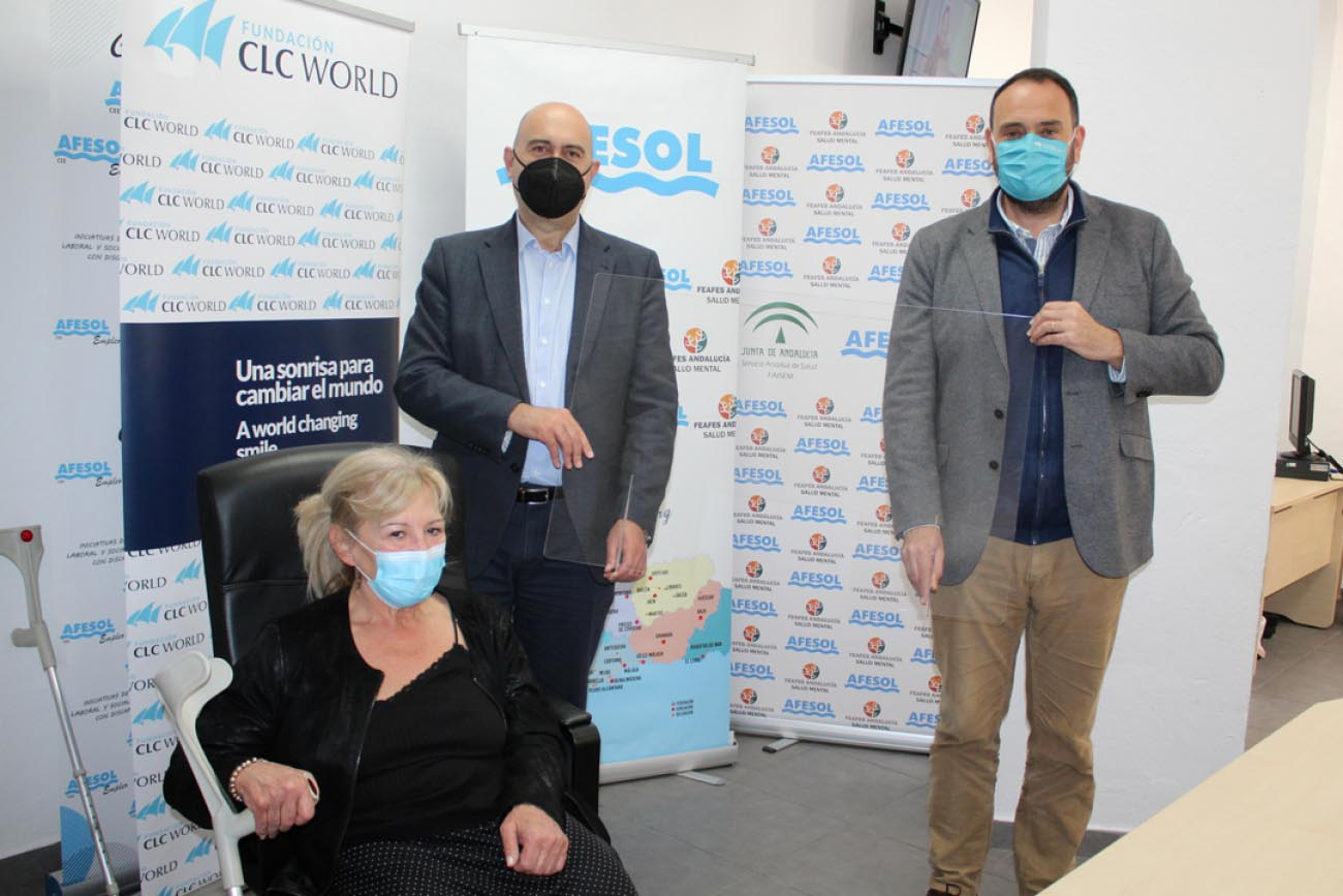 Fundación CLC donates 5 methacrylate protection screens to Afesol