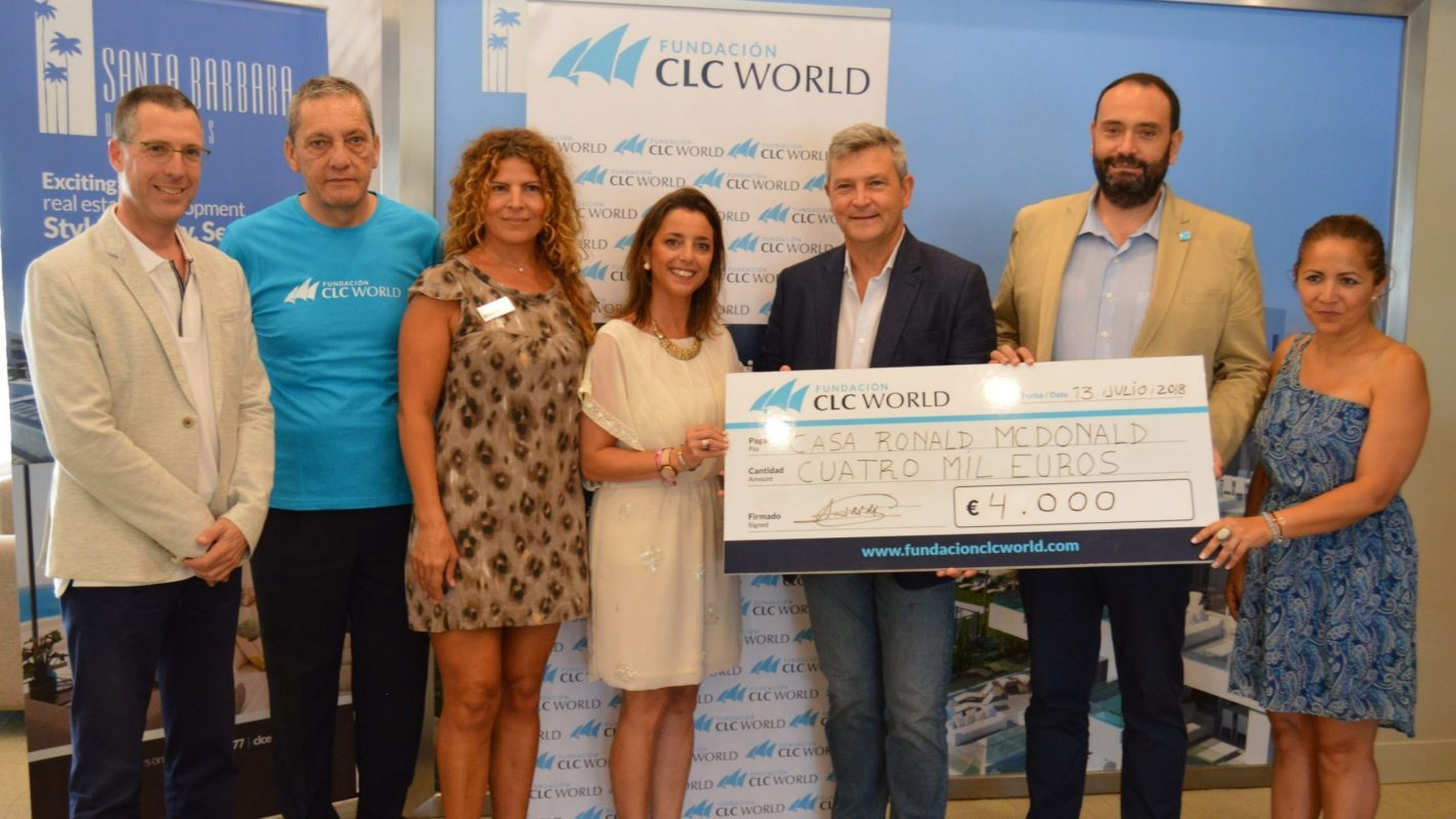 Fundación CLC World donates €4,000 to the Ronald McDonald House in Málaga, designed to help unwell children and their families